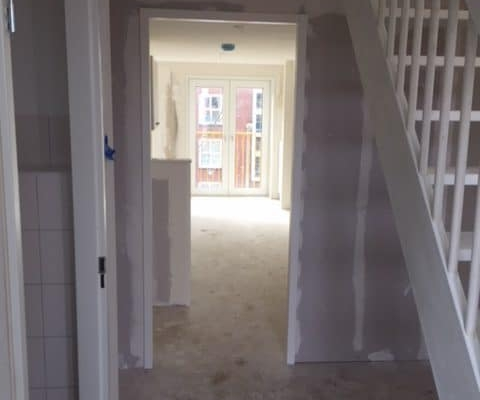 11-03-2018 De Noostraat maisonnette doorkijk vanuit voordeur naar keuken woonkamer WBV